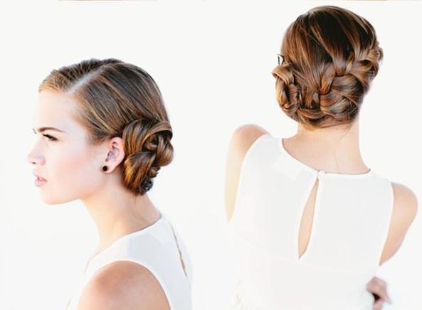Простые прически на свадьбу на средние волосы своими руками