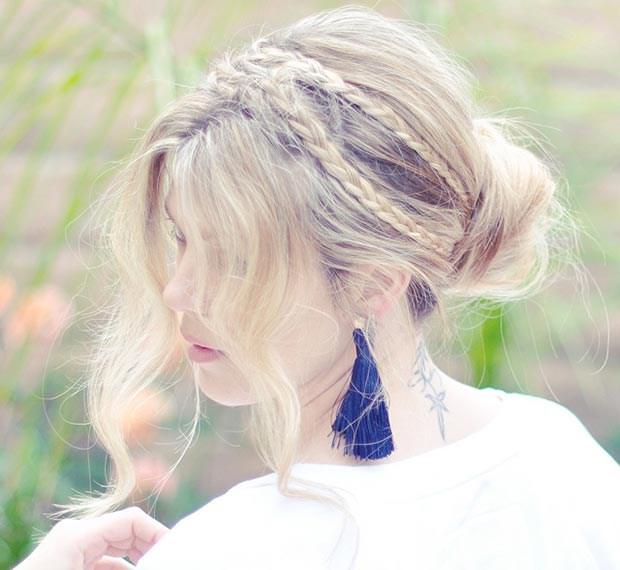 Собранные прически на длинные волосы