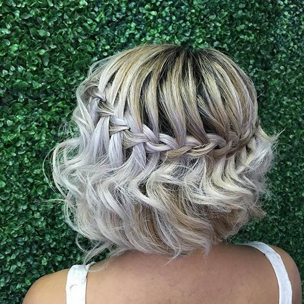 Причёски на короткие волосы плетение