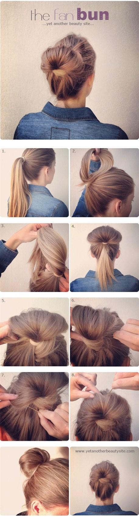 Простая прическа на длинные волосы своими руками
