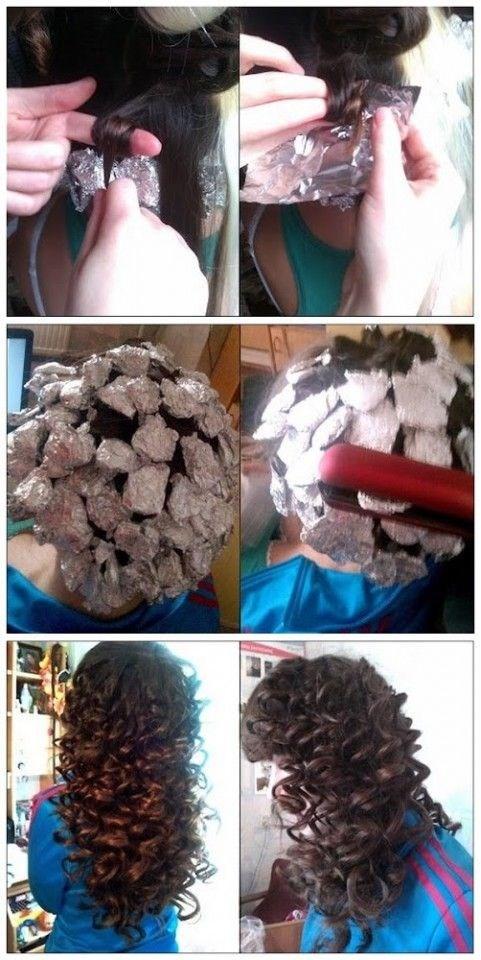 Как сделать локоны с фольгой фото 634