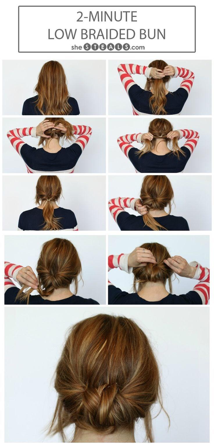 Красивые прически на средние волосы своими руками фото поэтапно для