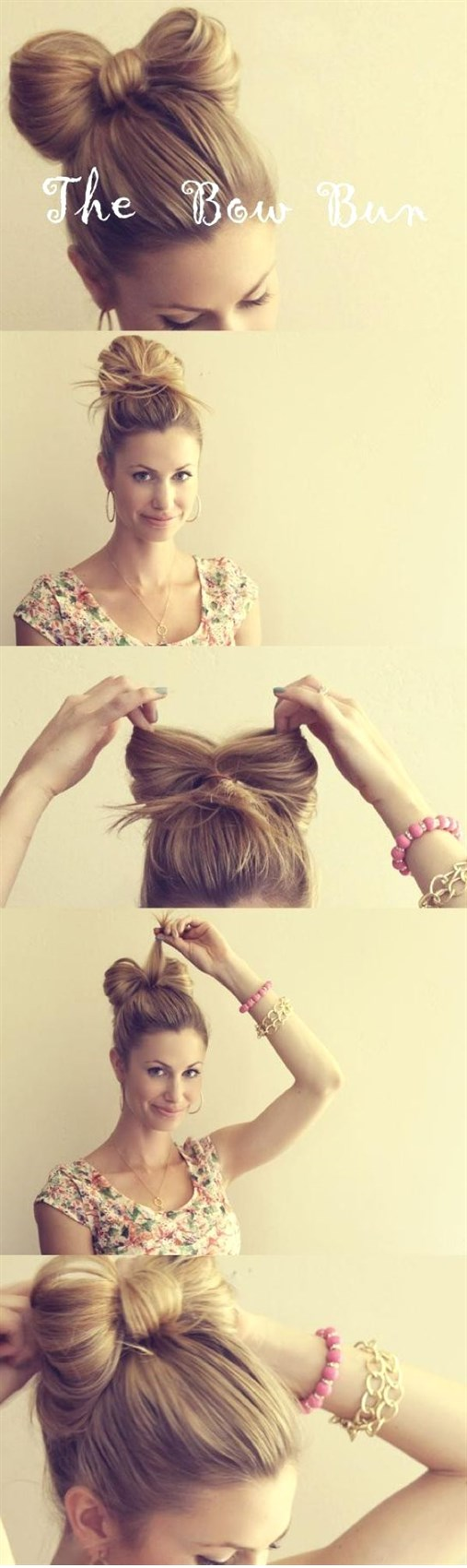 Как сделать бантик из длинного волоса 244