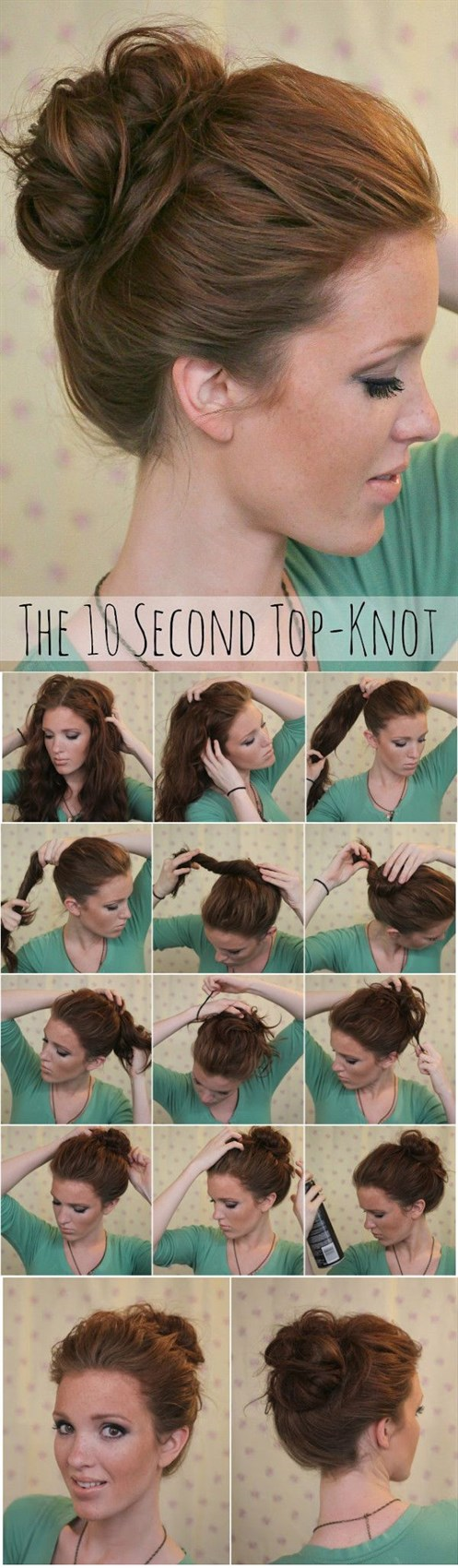 Простая прическа на средние волосы своими руками