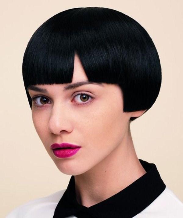 Стрижки на короткие волосы черные